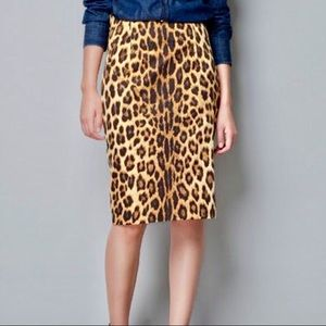 Zara Woman Leopard Print Pencil Skirt
